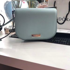 Light blue designer purse